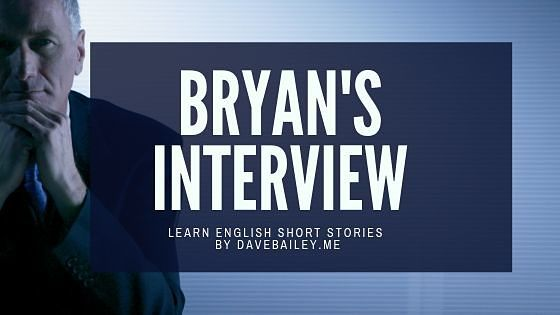 Header Image of Bryan's Interview with an image of a sharply dressed business man on a dark blue backgroun